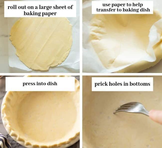 gluten free pie crust collage