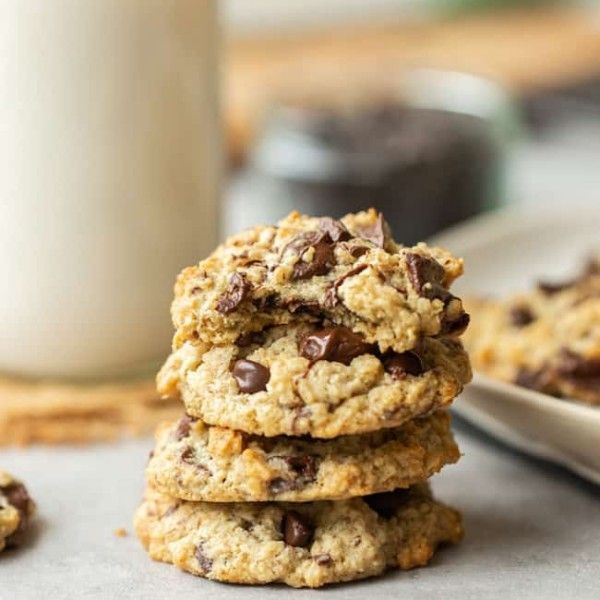 healthy oatmeal cookies stack
