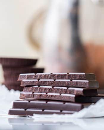 homemade-chocolate bars stacked