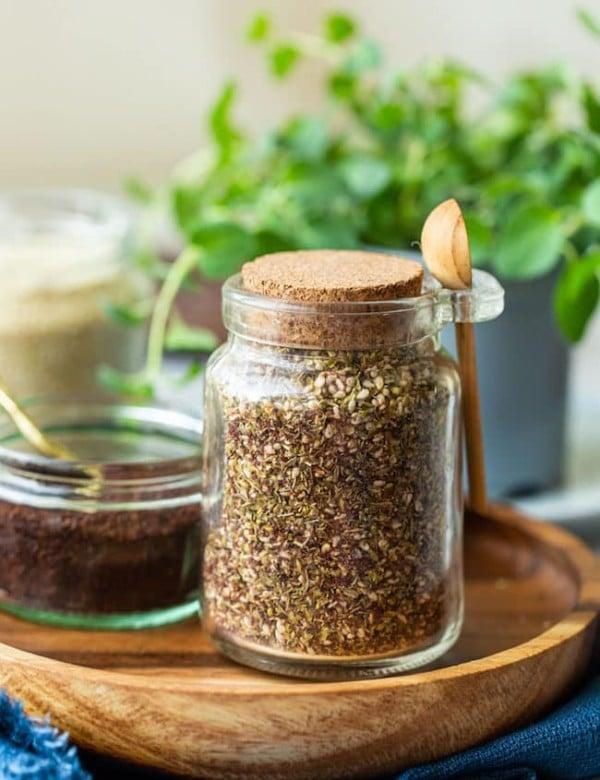 Homemade Za'atar Spice in a jar