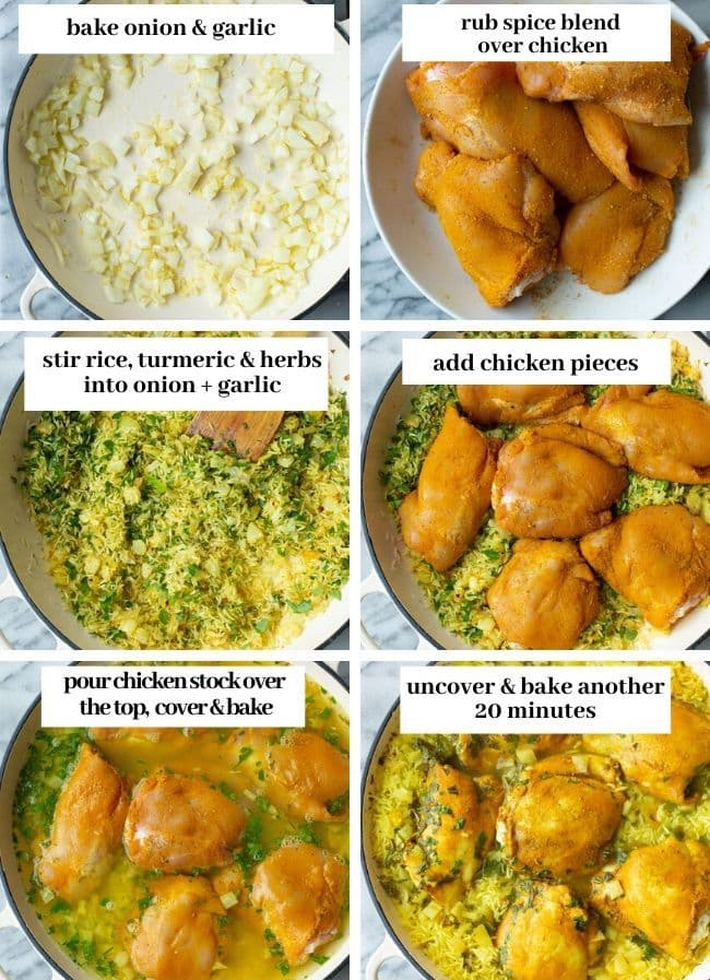 Herby Golden Baked Chicken and Rice collge