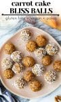 carrot cake bliss balls pin graphic