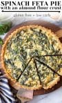 spinach feta pie pin graphic