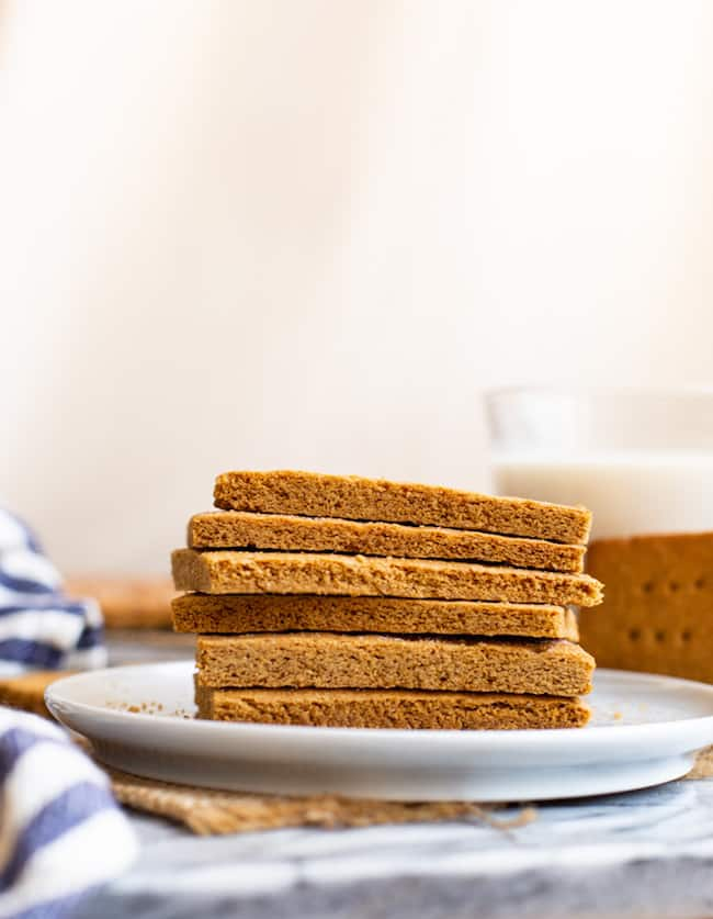 gluten-free-graham-crackers-on-a-plate