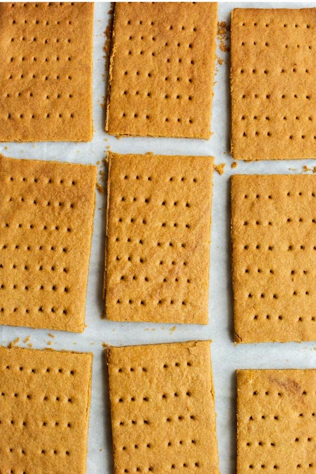 Gluten Free Graham Crackers laying a piece of baking paper