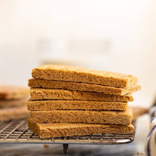 gluten-free-graham-crackers on a wire cooling rack