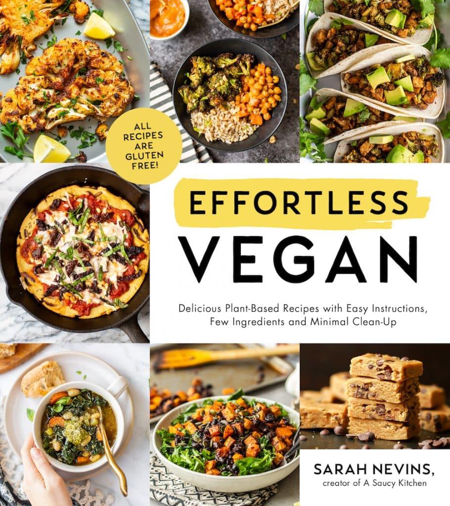 effortless vegan cookbook cover