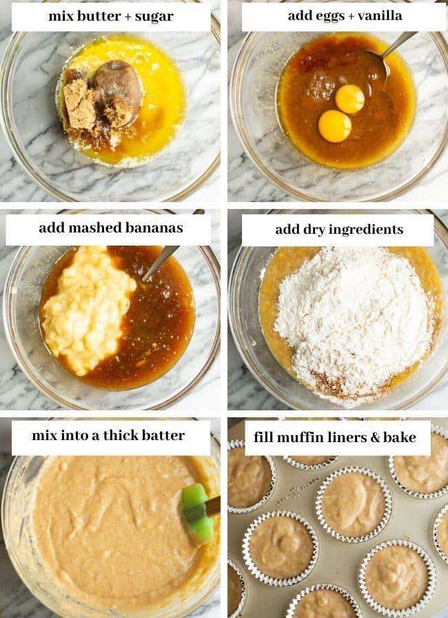 Gluten Free Banana Muffins collage