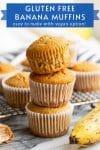 gluten free banana muffins pin graphic