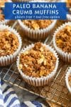 paleo banana muffins pin graphic