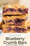 Blueberry Crumb Bars pin graphic