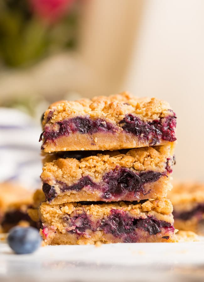 Gluten Free Blueberry Crumb Bars