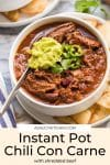 Instant Pot Chili Con Carne Pin Graphic