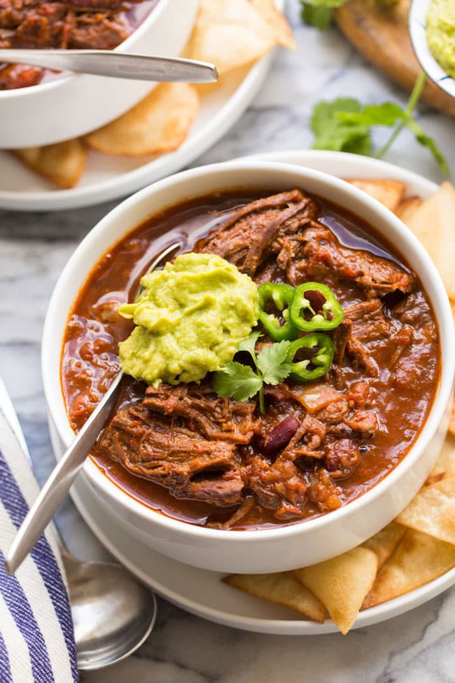 Instant Pot Chili Con Carne with Shredded Beef