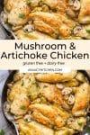 Mushroom & Artichoke Chicken pin graphic