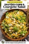 Sautéed Corn & Courgette Salad pin graphic