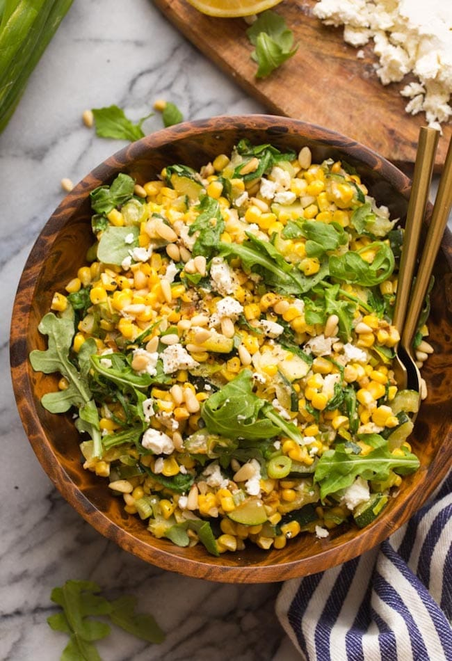 Sautéed Corn & Courgette Salad