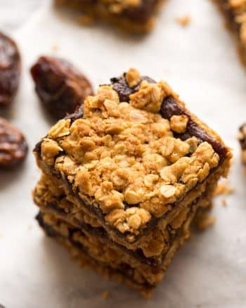 Gluten Free Date Squares stacked
