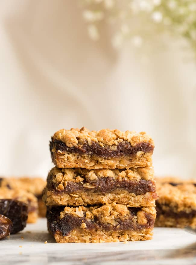 three date squares stacked