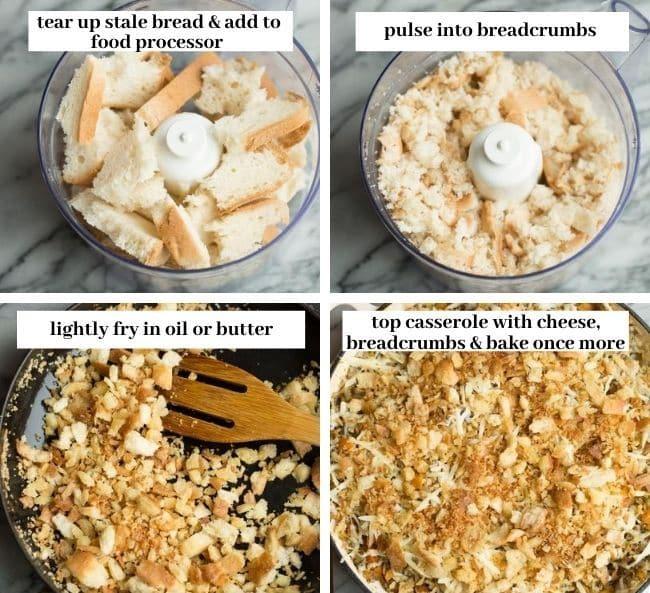 chicken & wild rice casserole collage