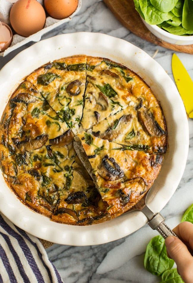 Bacon & Mushroom Crustless Quiche