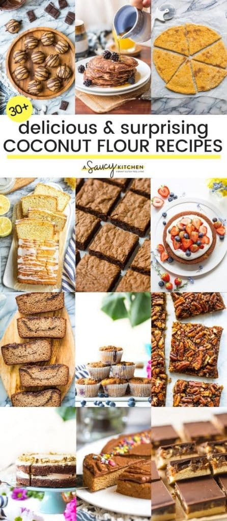 Coconut flour collage pin graphic