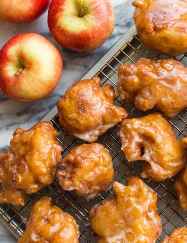 Gluten-Free-Apple-Fritters-on a cooling rack