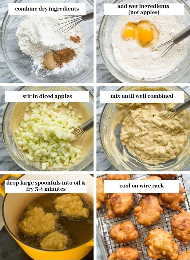 Gluten Free Apple Fritters collage 1