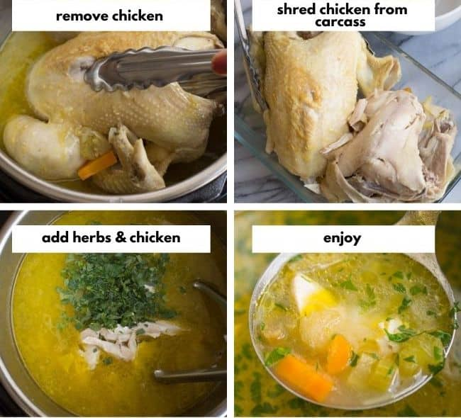 From Scratch Instant Pot Chicken Soup collage 2