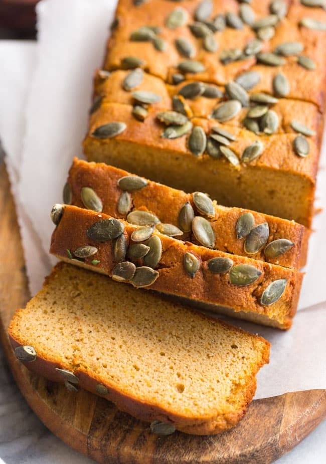 sliced up Paleo Sweet Potato Bread