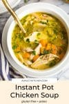 instant pot chicken soup pin graphic