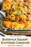 Butternut Squash Enchilada Casserole pin graphic