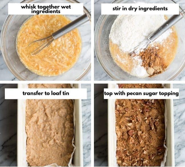 Paleo Apple Bread collage