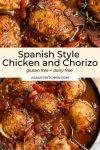 Spanish Chicken and Chorizo pin graphic