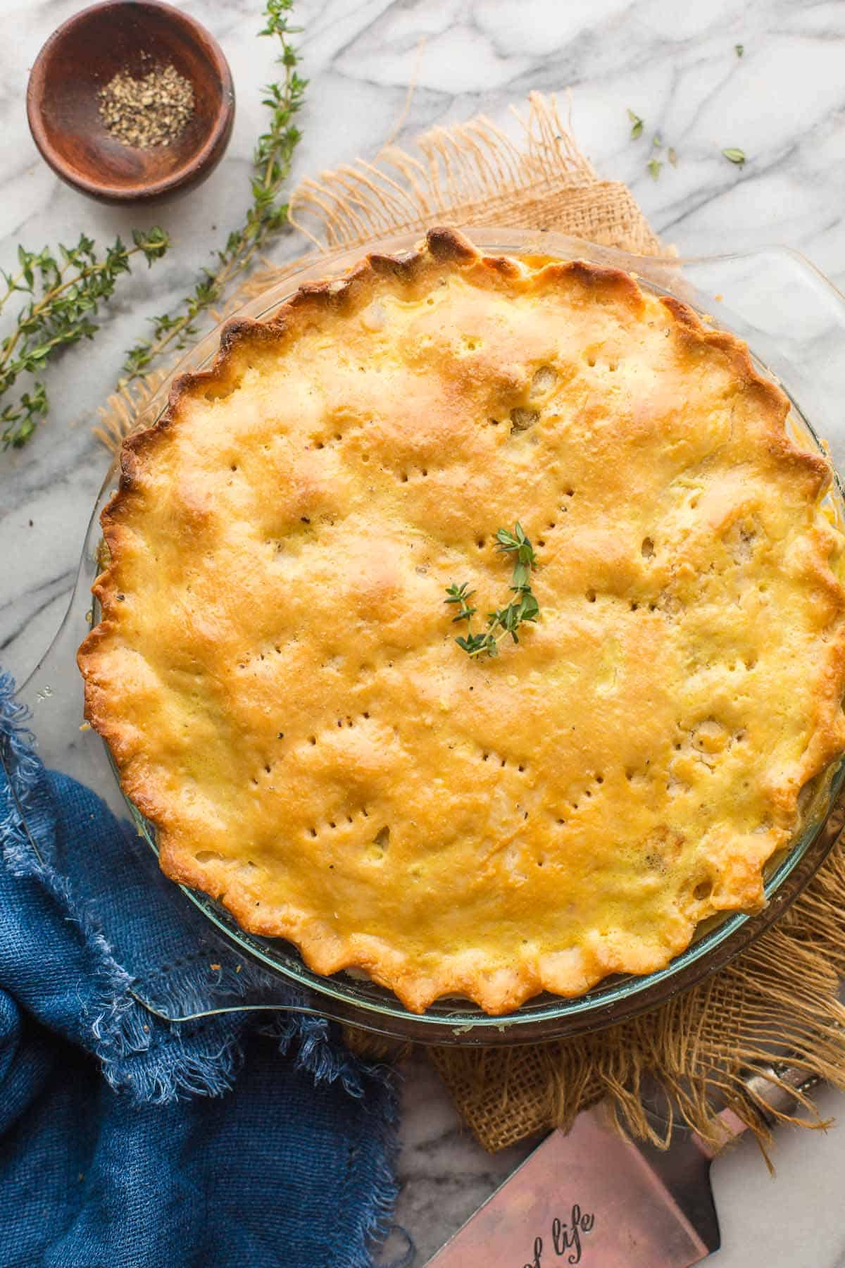 Gluten Free Leftover Turkey Pot Pie