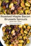 roasted maple bacon brussels sprouts pin graphic