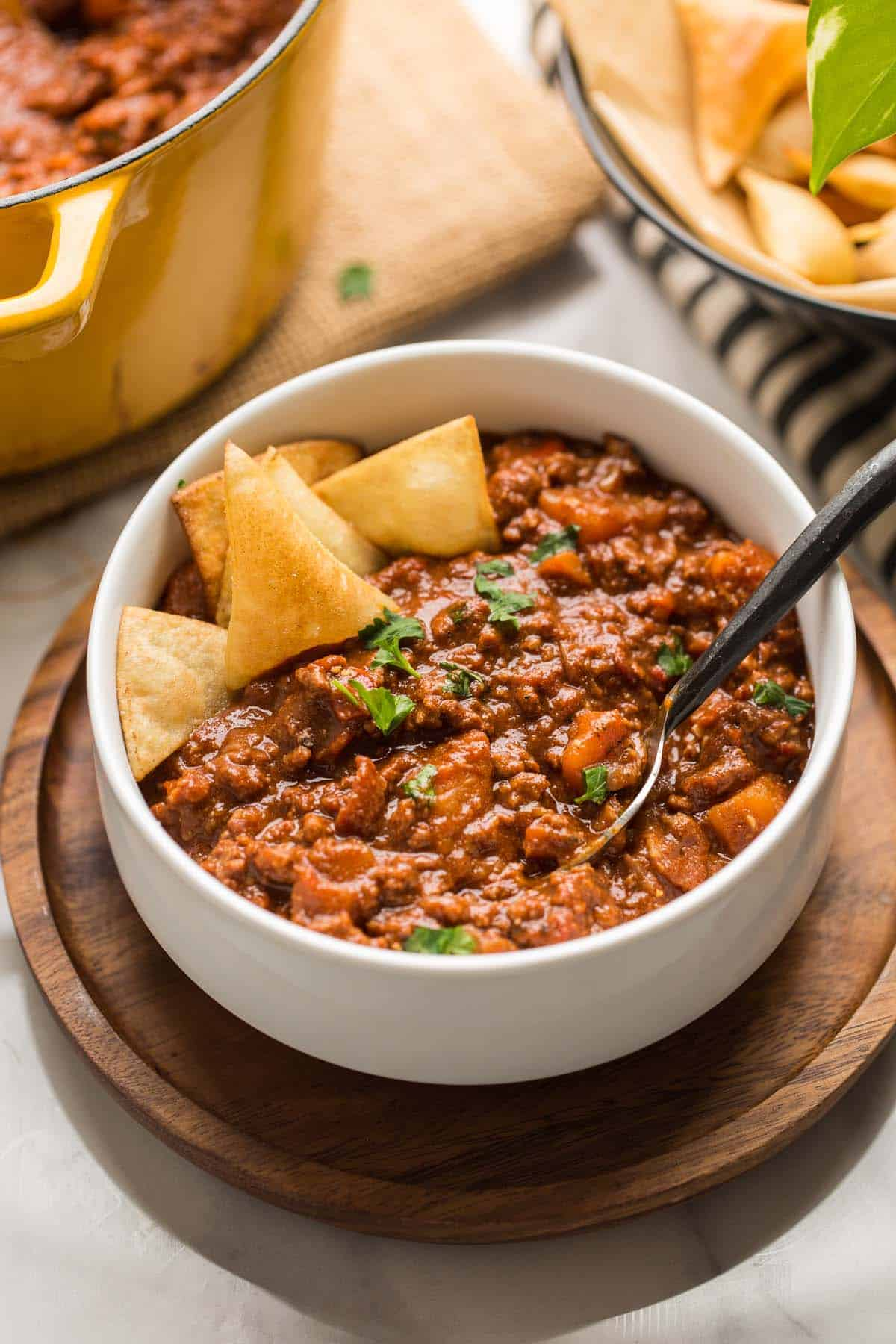 Smokey Sweet Potato & Beef Chocolate Chili