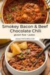 Smokey Sweet Potato Chocolate Chili pin graphic pin graphic