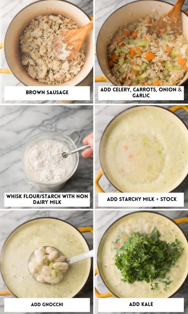 Creamy Chicken Gnocchi Soup collage