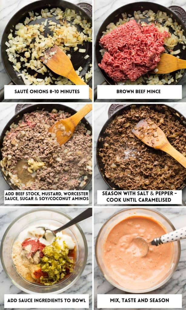 Low Carb Burger Bowls collage