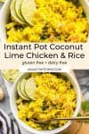 Instant Pot Coconut Lime Chicken and Rice Pin Graphic.