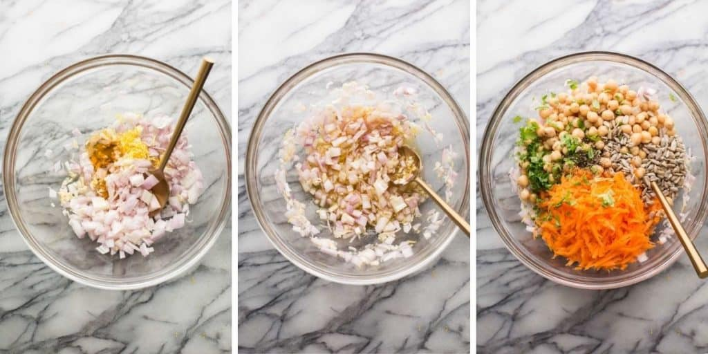 Sweet Shallot Chickpea Salad collage