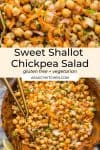 Sweet Shallot Chickpea Salad pin graphic