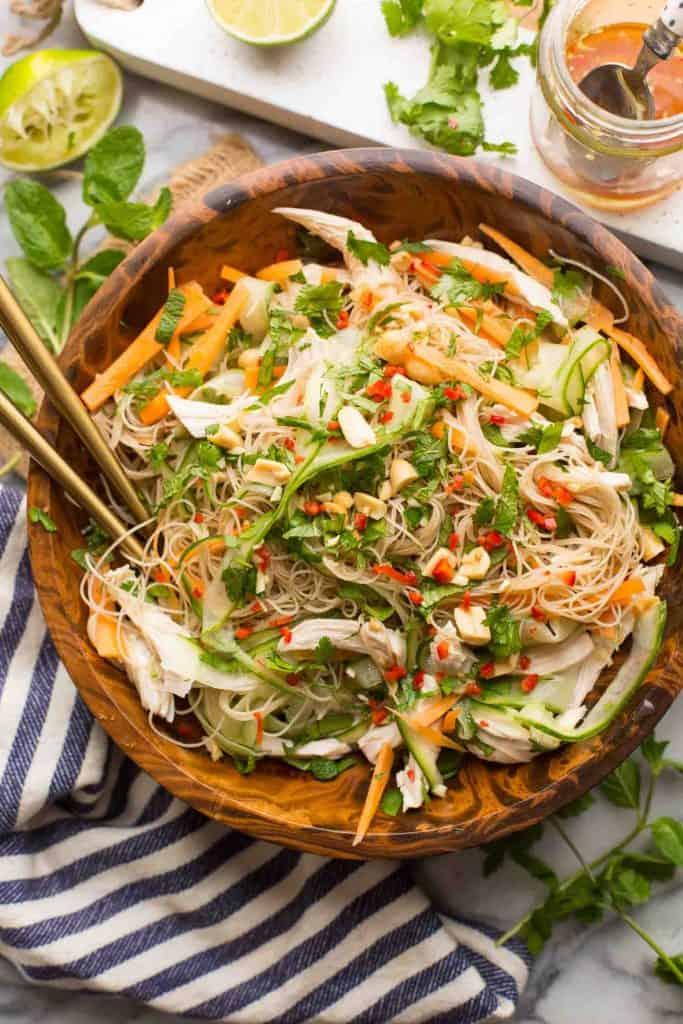 Vietnamese Chicken & Rice Noodle Salad