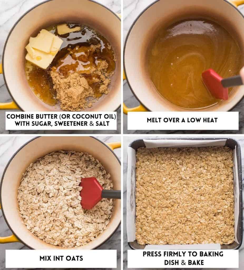 Gluten Free Flapjacks collage