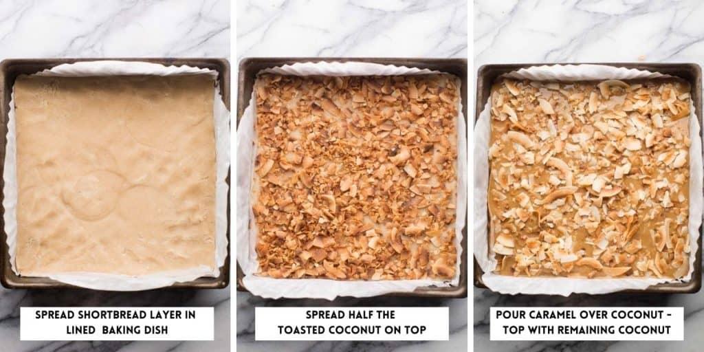 Healthier No Bake Samoas Cookie Bars