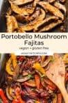Portobello Mushroom Fajitas Pin Graphic