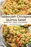 Tabbouleh Chickpea Quinoa Salad pin graphic