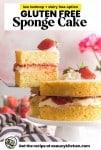 gluten free victoria sponge cake pinterest graphic