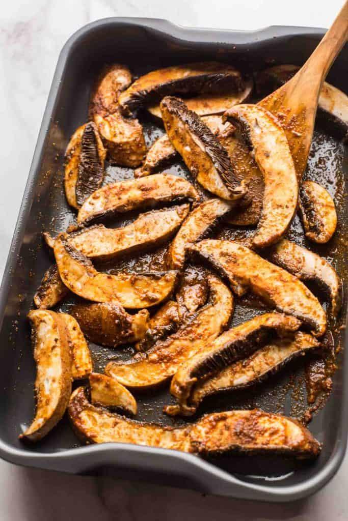 Portobello Mushrooms in sauce